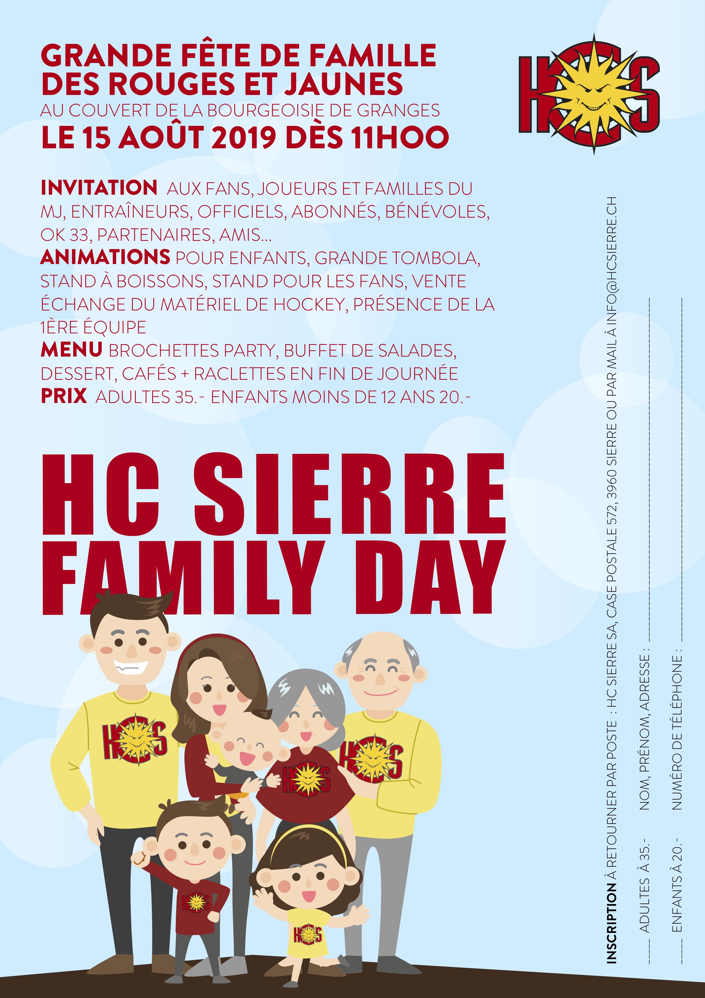 La Family Day du HC Sierre, la grande fête de famille des Rouges et…