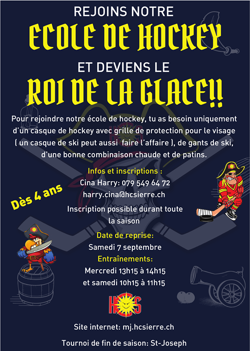 � Wiederaufnahme der Hockeyschule am Samstag, 7. September 2019 � Du bist zwischen 4…